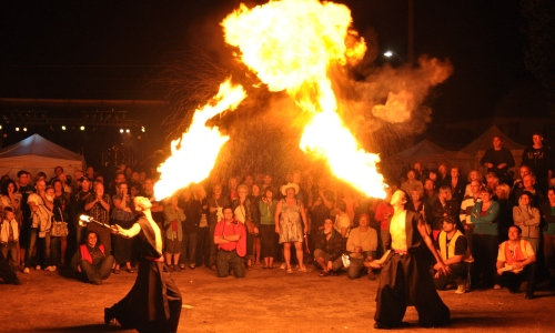 cracheur de feu, spectacle, festival, animation
